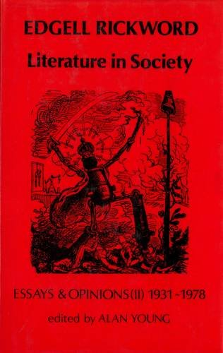Literature in Society By Edgell Rickword