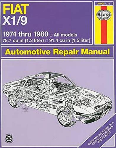 Fiat X1-9, 1974-1980 By John Haynes (University of Essex UK)