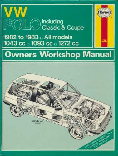 Volkswagen Polo 1982-83 Owner's Workshop Manual By A. K. Legg