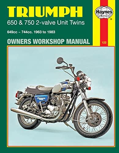 Triumph 650 & 750 2-Valve Unit Twins (63 - 83) By Haynes Publishing