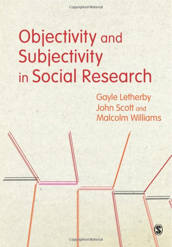 Objectivity and Subjectivity in Social Research By Gayle Letherby