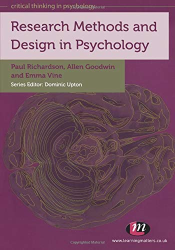 Research Methods and Design in Psychology By Paul Richardson