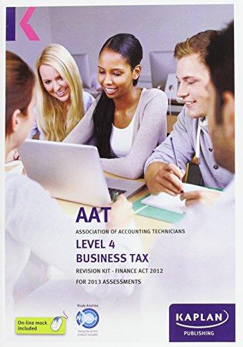 Business Tax (FA) - Revision Kit By Kaplan Publishi