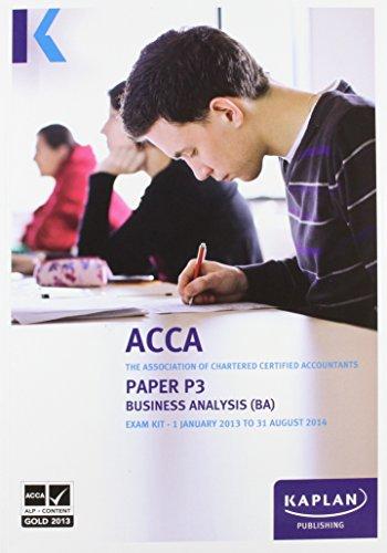 P3 Business Analysis BA - Exam Kit By Kaplan Publishing