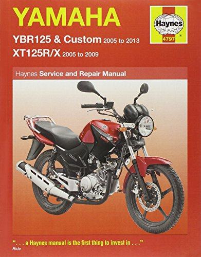 Yamaha YBR125 & XT125R/X 2005 - 2013 (Haynes Service and Repair Manuals) By Matthew Coombs