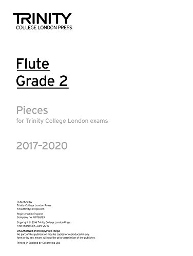 Trinity College London: Flute Exam Pieces Grade 2 2017-2020 (part only) By Trinity College London