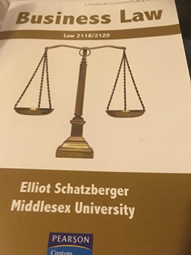 Business Law By Elliot Schatzberger