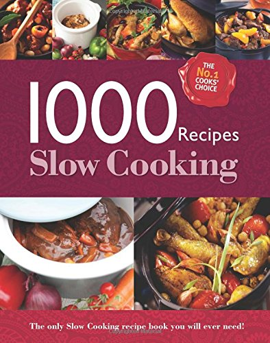 1000 recipes slow cooking large format hardback book phot by