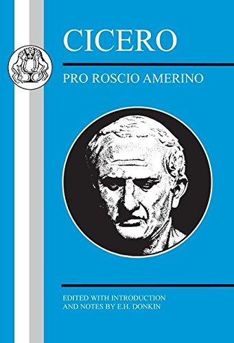 a summary of pro roscio amerino a speech by marcus tullius cicero