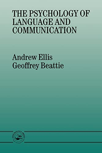 The Psychology of Language And Communication By Geoffrey Beattie
