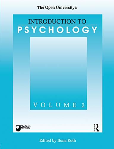 Introduction to Psychology: v.2 by Ilona Roth