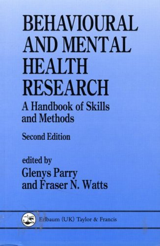 Behavioural and Mental Health Research By Glenys Parry