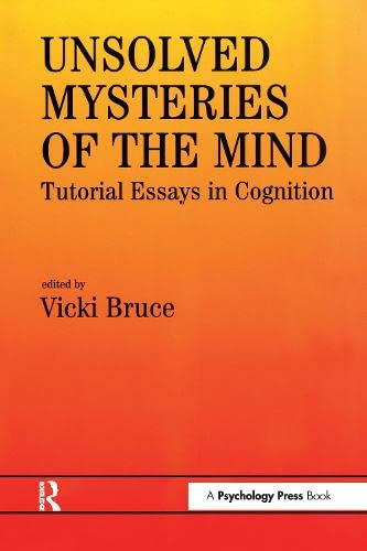 Unsolved Mysteries of The Mind By Vicki Bruce