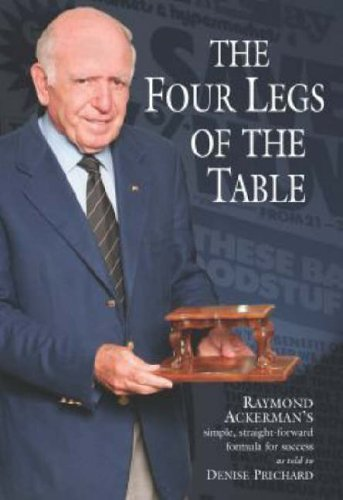 The four legs of the table By Raymond Ackerman