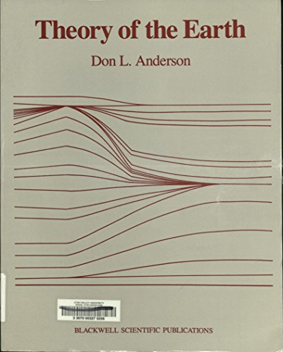 Theory of the Earth By D. Anderson