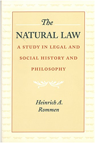 Natural Law By Henrich Rommen