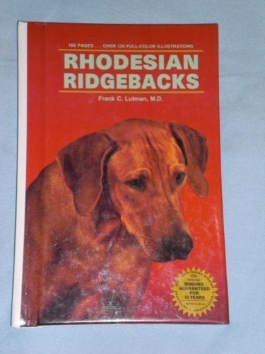 Rhodesian Ridgebacks By Frank C. Lutman