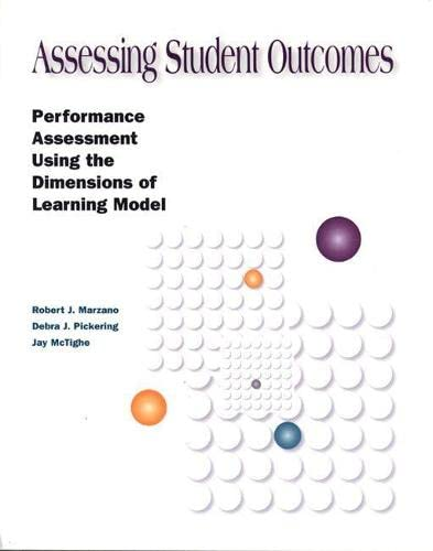 Assessing Student Outcomes By Jay McTighe