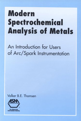 Modern Spectrochemical Analysis of Metals By Volker B.E. Thomsen