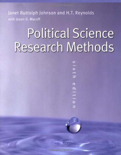 Political Science Research Methods By H. T. Reynolds