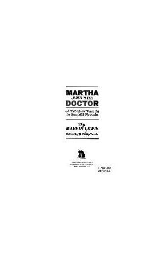 Martha and the Doctor By Marvin Lewis