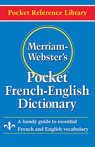 Merriam Webster Pocket French-English Dictionary By Merriam-Webster