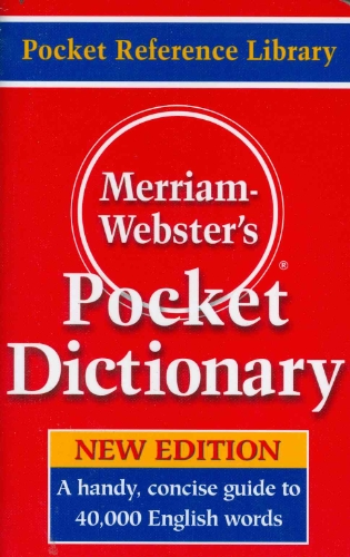 Merriam Webster's Pocket Dictionary By Created by Merriam-Webster