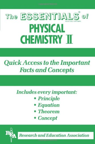Physical Chemistry: v.2 by Research & Education Association