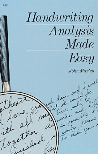Handwriting Analysis Made Easy By John Marley