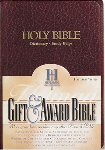 KJV Gift & Award Bible, Burgundy Imitation Leather By Edited by Holman Bible Staff