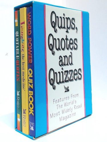 Laughter - the Best Medicine / Quotable Quotes / Word Power Quiz Book By Reader's Digest