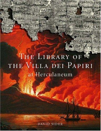 Library of Villa Dei Papiri at Herculaneum By David Sider