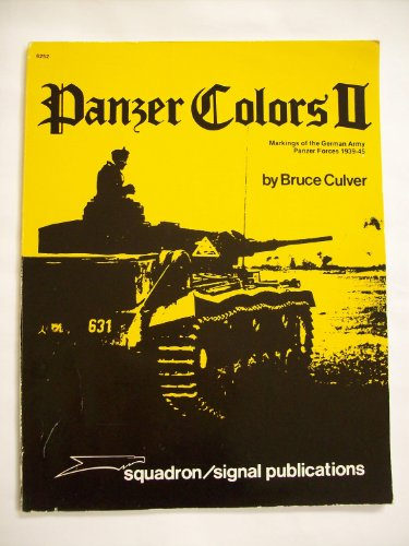 Panzer Colours By Bruce Culver