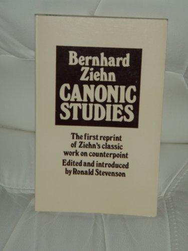 Canonic Studies By Ziehn