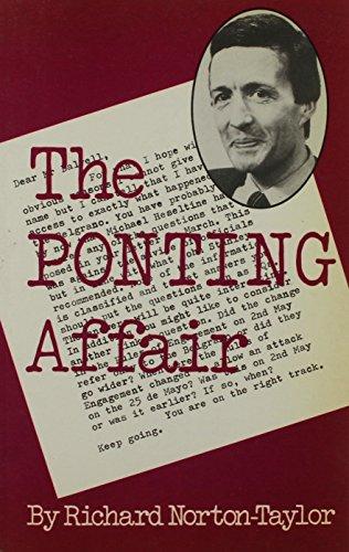 Ponting Affair By Richard Norton-Taylor