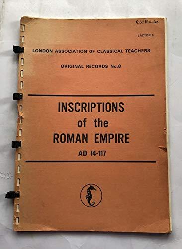 Inscriptions of the Roman Empire By B.H. Warmington