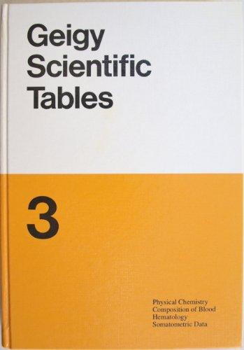 Geigy Scientific Tables By C. Lentner