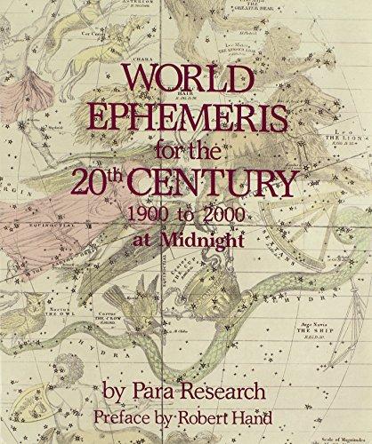 World Ephemeris By Para Research, Inc.