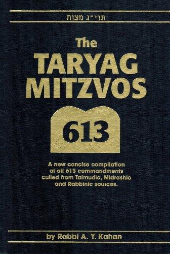 The Taryag Mitzvos By Aharon Yisrael Kahan Aharon YisLraE>el KL#ahan