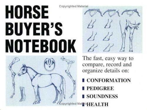 Horse Buyer's Notebook By Russell Meerdink Company Ltd