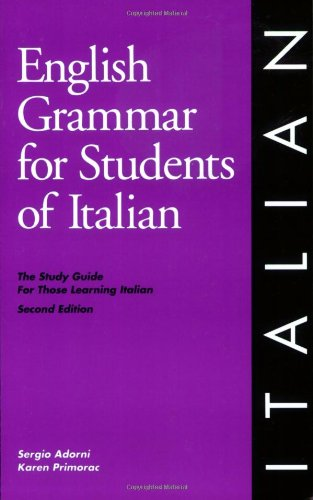 English Grammar for Students of Italian By Sergio Adorni