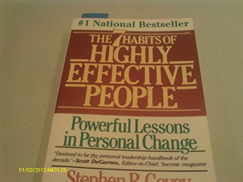 THE 7 HABITS OF HIGHLY EFFECTIVE PEOPLE: PERSONAL WORKBOOK (COVEY) By Stephen R Covey