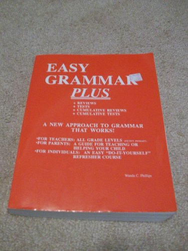 Easy Grammar Plus Student Workbook By Wanda C Phillips