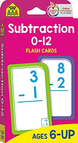 Subtraction 0-12 Flash Cards By By (composer) School Zone Publishing