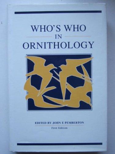 Who's Who in Ornithology By John E. Pemberton