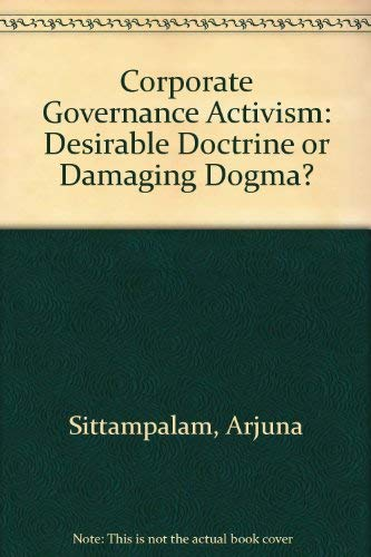 Corporate Governance Activism By Arjuna Sittampalam