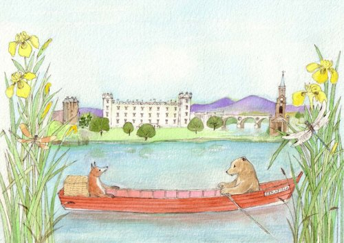Bear in a Boat in the Borders By Cara Lockhart Smith