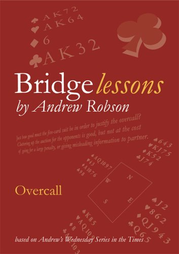 Overcall (Bridge Lessons) by Robson, Andrew Paperback Book The Cheap Fast Free