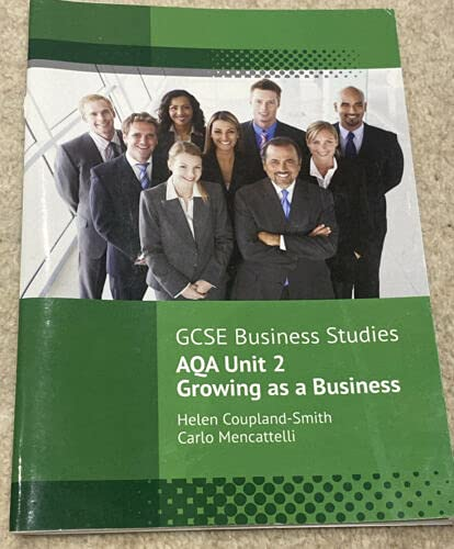 GCSE Business Studies AQA Unit 2 Growing as a Business By Helen Coupland-Smith