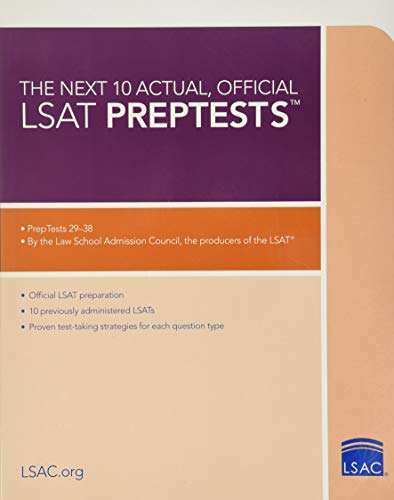Next 10 Actual Official Lsat Preptests by Lsat Series